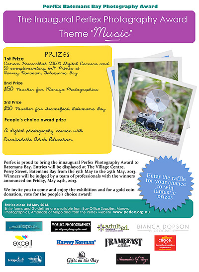 Inaugural PerfEx Photography Competition Poster